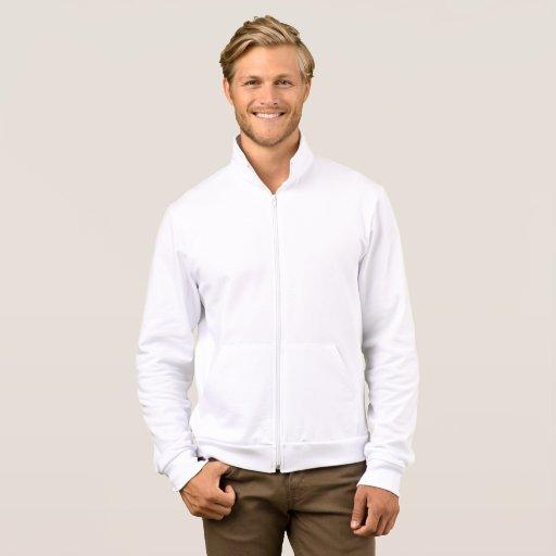 Veste Jogger molletonnée pour homme avec zip unisexe, Blanc