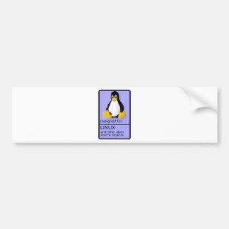 Conçu pour Linux Autocollant De Voiture