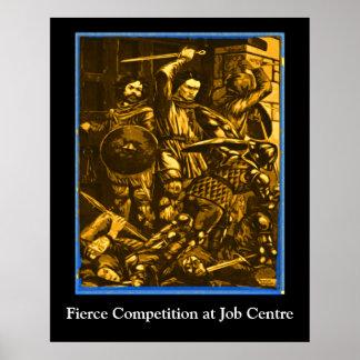 Concurrence féroce à l Agence pour l emploi Posters