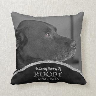 Condoléance commémorative personnalisée de chien coussins carrés