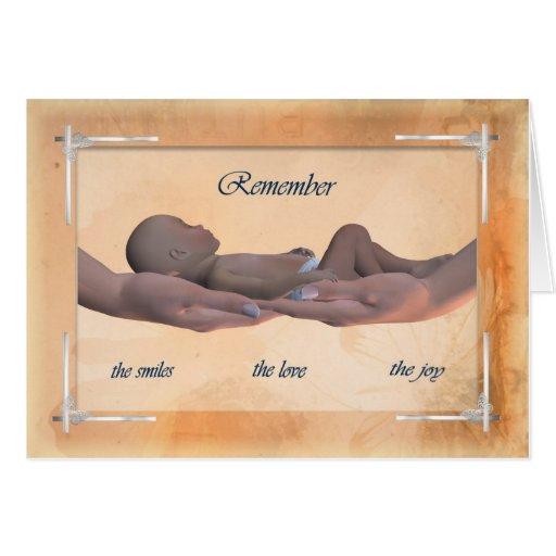 Condoléance/sympathie pour la carte de bébé