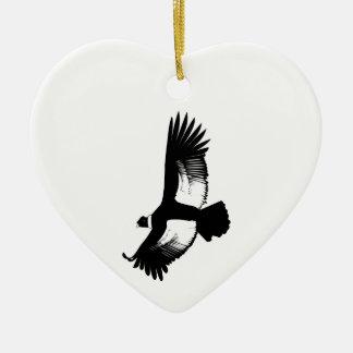 Condor andin volant ornement cœur en céramique