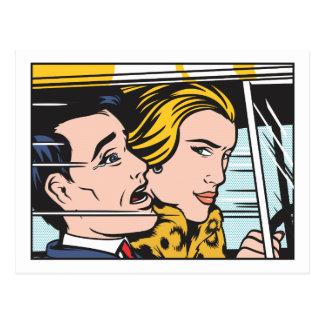 Conducteur de femme carte postale