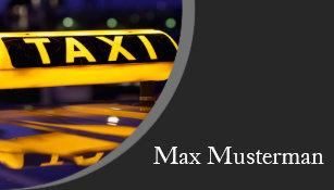 Conducteur De Taxi Cartes Visite
