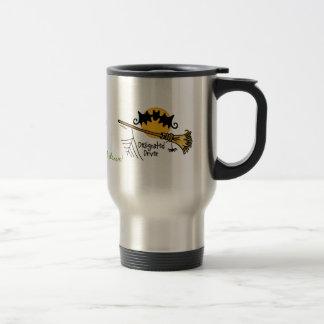 Conducteur indiqué - balai de vol mug de voyage en acier inoxydable