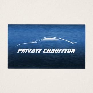 Conducteur privé de chauffeur de voiture cartes de visite