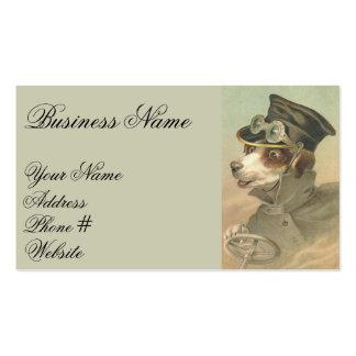 Conducteur vintage de chien carte de visite standard