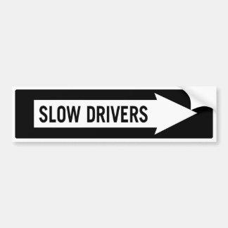 Conducteurs lents autocollant pour voiture