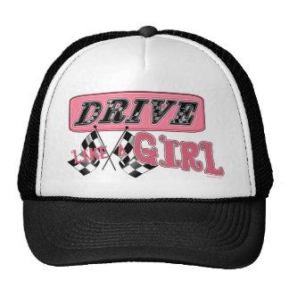 Conduisez comme le casquette de fille