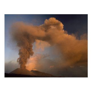 Conduit de sommet du mont Etna, Sicile, Italie Cartes Postales