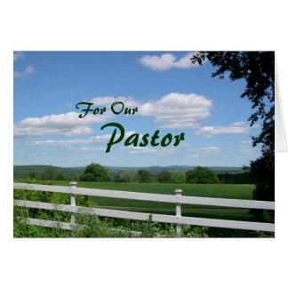 Conduite beaucoup carte d'appréciation de pasteur
