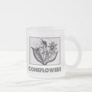 Coneflowers Mug En Verre Givré