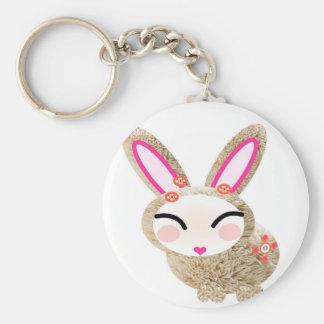 conejo porte-clé rond