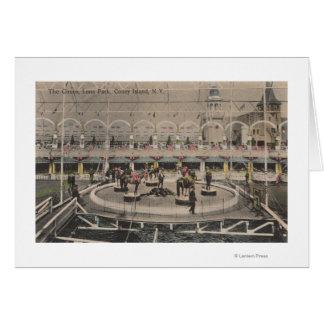 Coney Island, NY - acte de cirque de Luna Park Carte De Vœux
