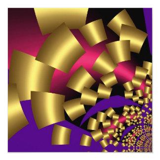 Confettis abstraits d'or d'invitation carton d'invitation  13,33 cm