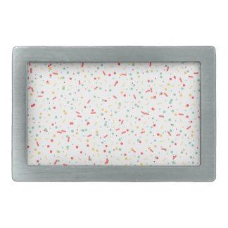 confettis colorés boucle de ceinture rectangulaire