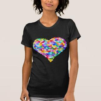 Confettis de coeur d arc-en-ciel t-shirt