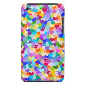 Confettis de coeur d'arc-en-ciel coque iPod Case-Mate