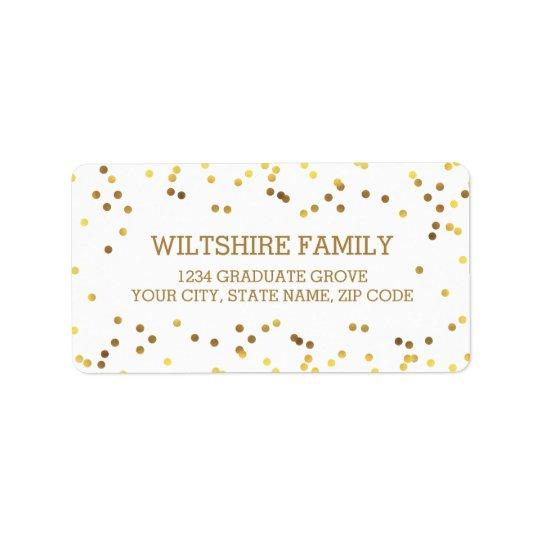 Confettis de feuille d'or de Faux Étiquette D'adresse