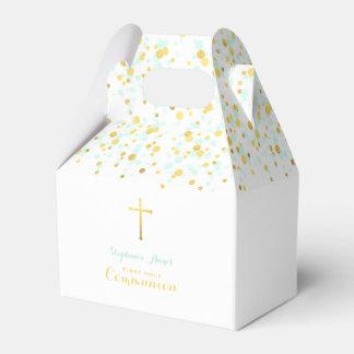 Confettis de menthe et d'or de communion ballotins
