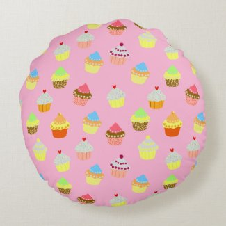 Coussin rond, « Cupcakes »