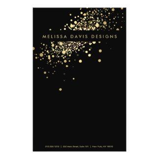 Confettis d'or de Faux sur l'insecte noir Prospectus 14 Cm X 21,6 Cm