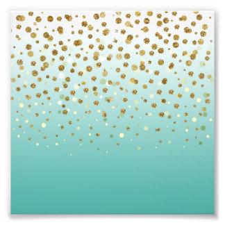 Confettis girly assez modernes de scintillement photographie d'art