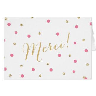 Confettis Merci de scintillement Carte De Vœux