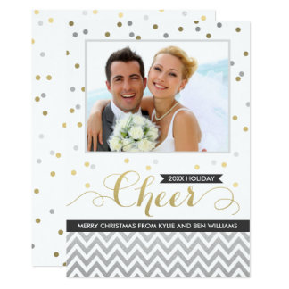 Confettis noirs des cartes photos | Chevron