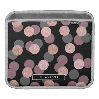confettis roses élégants de rose en pastel de housses iPad