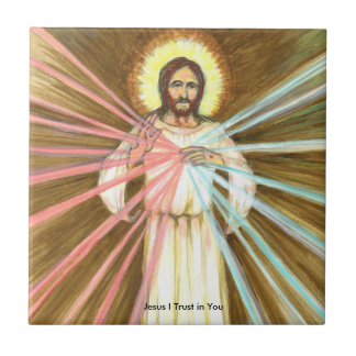Confiance de Jésus I dans vous petit carreau de