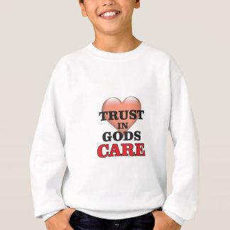 confiance sur le coeur de soin de dieux sweatshirt