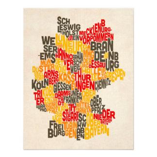 Configuration de texte de carte de l Allemagne