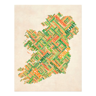 Configuration de texte de ville de l Irlande Eire Prospectus Personnalisés