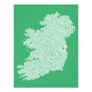 Configuration de texte de ville de l Irlande Eire Prospectus En Couleur