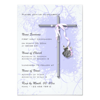 Confirmation religieuse de communion de baptême carton d'invitation  11,43 cm x 15,87 cm