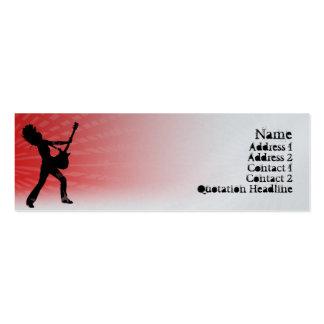 Confiture de guitare - maigre carte de visite petit format