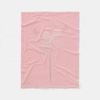 Confortable toute la couverture rose de monogramme