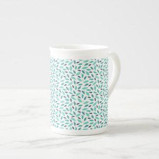congé de vert de tasse de porcelaine