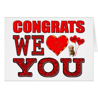 Congrats nous vous aimons cartes