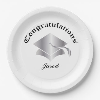 Congrats personnalisable des plats d'obtention du assiettes en papier