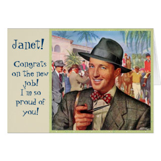Congrats sur la carte faite sur commande vintage