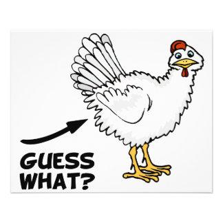 Conjecture quel bout de poulet prospectus 11,4 cm x 14,2 cm