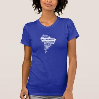 Connaissance des langues Equateur dans des T-shirt
