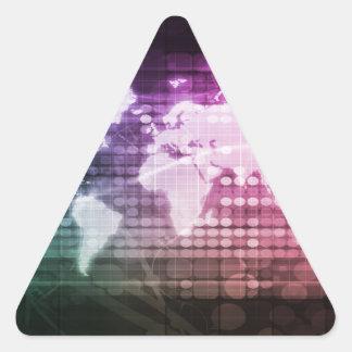 Connexion réseau et système intégré globale sticker triangulaire