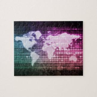 Connexion réseau globale et intégré puzzle