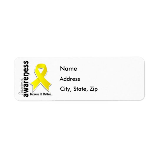 Conscience 5 de sarcome étiquette d'adresse retour