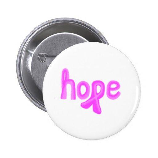 conscience de cance de sein d'espoir badge avec épingle