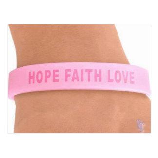 Conscience de cancer du sein (espoir, foi, amour) carte postale