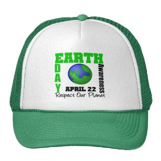 Conscience de jour de la terre casquettes de camionneur